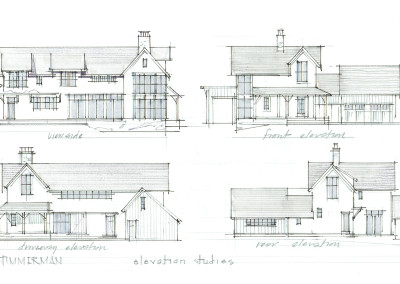 Modern Farmhouse Elevation Studies